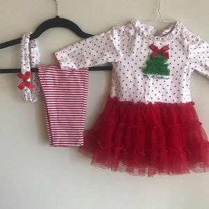 Little Me Matching Sets - My 1st Christmas three piece outfit